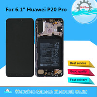Original M&Sen For Huawei P20 Pro CLT AL LCD Screen Display Touch Panel Digitizer With Frame+Fingerprint+Bettery For P20 Pro