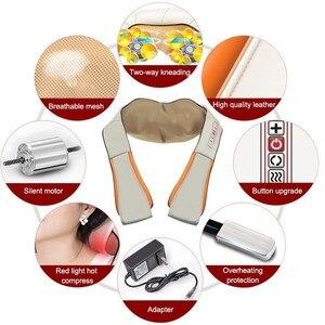 Image 4 - חשמלי צוואר שיאצו רולר לעיסוי לכאבי גב אינפרא אדום חימום עיסוי Gua Sha מוצר גוף בריאות בית רכב להירגע
