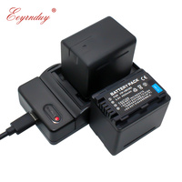 2Pcs Camera Battery VW VBK360 VW VBK360 + 1Pcs Charger for Panasonic HDC HS80 SD40 SD60 SD80 SDX1 SDR H100 H85 H95 HS60