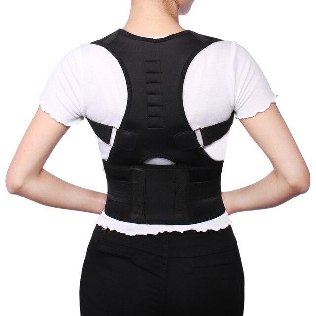 Corrector de postura ajustable corrección de posición magnética soporte de cinturón trasero