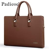 Padieoe сумка мужская натуральная кожа портфель мужские сумки через плечо для ноутбука а4 натуральная кожа адвокат Файл сумка бизнес работа