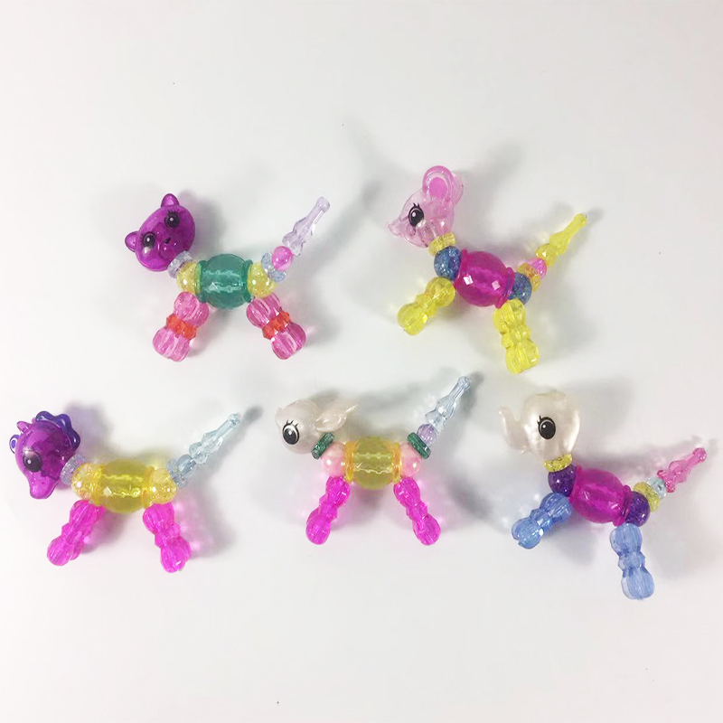 New Design DIY 5pcs Magic Bracelet Tricks Pet Beads Unicorn Bracelet for Girl 's Gift