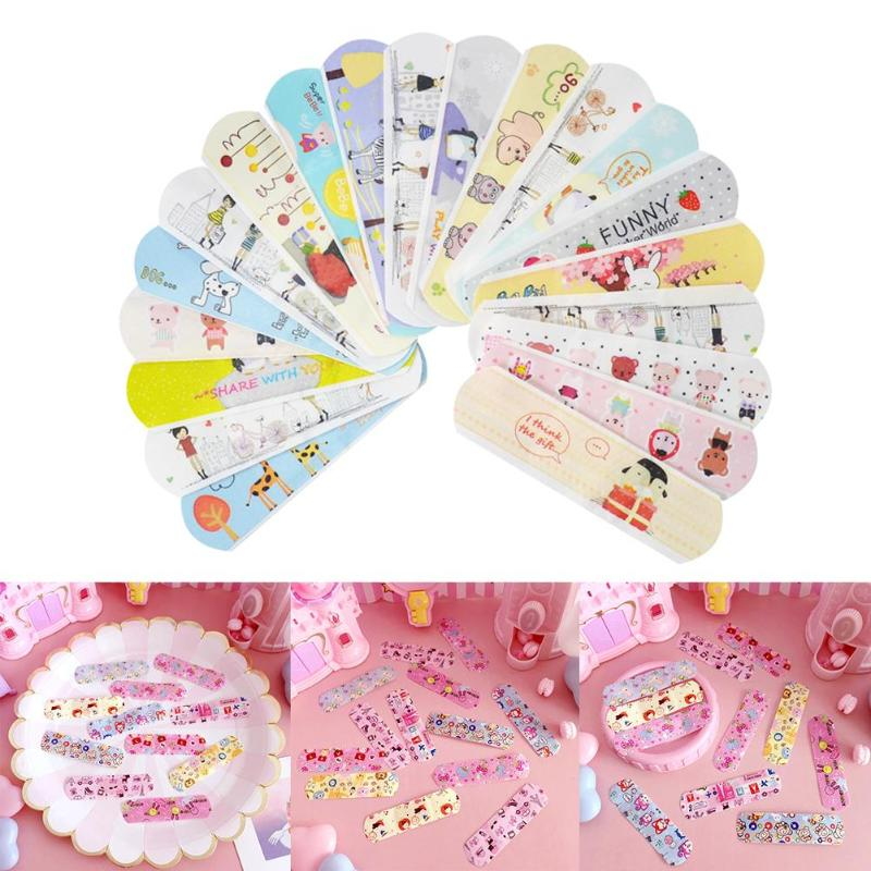 100pcs-waterproof-breathable-cute-cartoon-band-aid-hemostasis-adhesive-bandages-first-aid-emergency-kit-for-kids-children