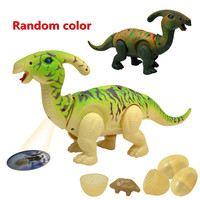Walking Dinosaur Figure Action Model Electronic Toys Sound Pets Interactive Toys Chest Projector Christmas Gifts Kids Children