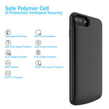 CASEWIN 5500mAh Battery Charger Case For iPhone 6 Plus/6s Plus/7 Plus/8 Plus case Power Bank Charging Powerbank Charger Case