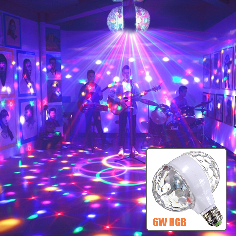 DJ Light E27 LED Bulb stage light AC85V-265V Auta Rotating Lamps Double Heads D25