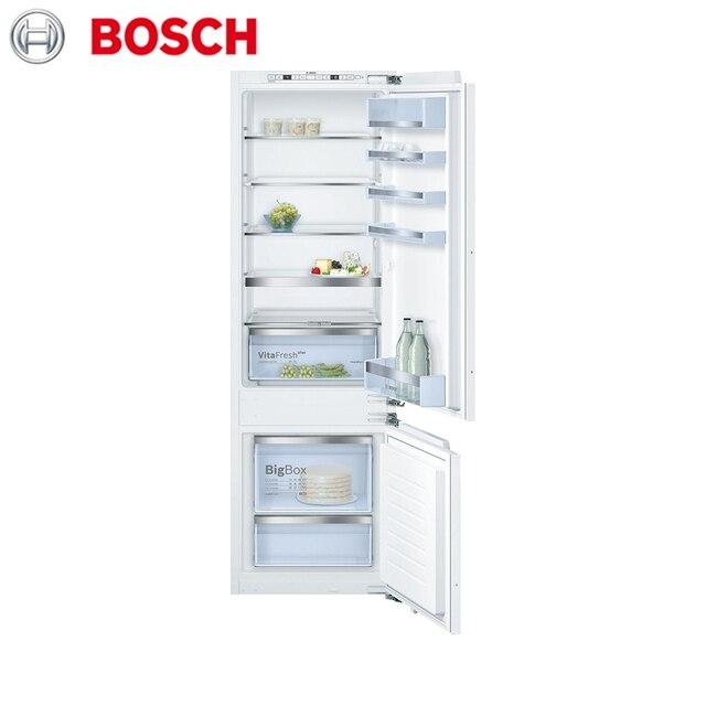 Встраиваемая холодильно-морозильная комбинация с нижней морозильной камерой Bosch Serie|6