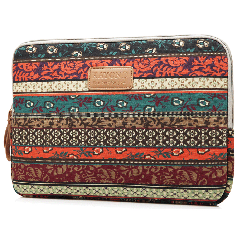 KAYOND Laptop Case, Boheme Style Canvas Fabric Pouch For 35.8cm (14 Inch) Laptop / Notebook Computer, Mystical Forest