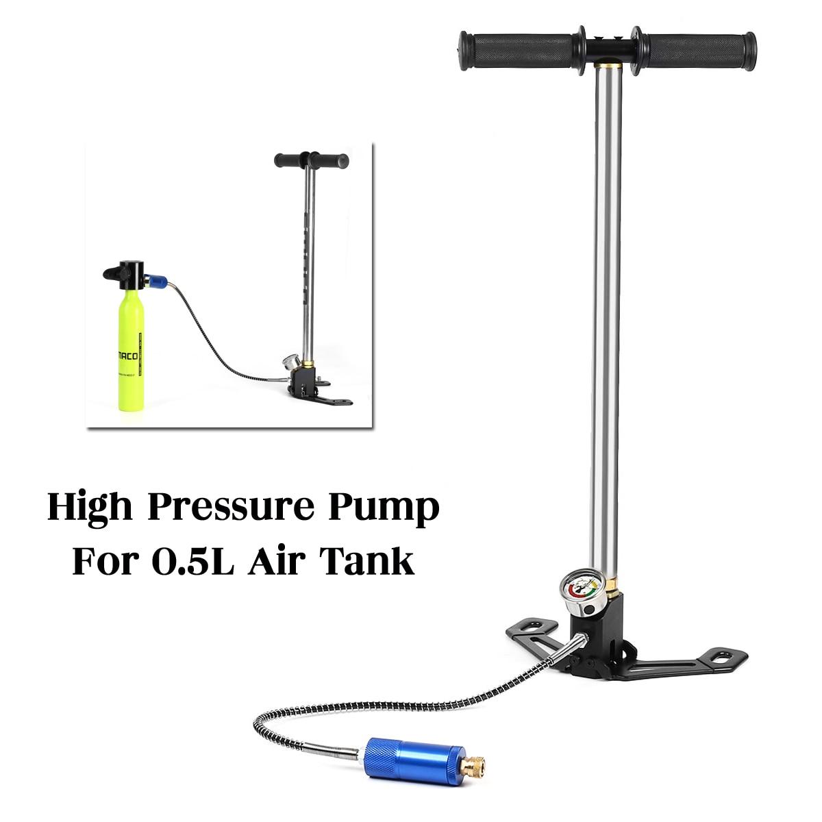Pour 0.5L plongée sous-marine réservoir de rechange pompe à main oxygène réservoir d'air pompe à main pour SMACO rechange accessoires de respiration sous-marine