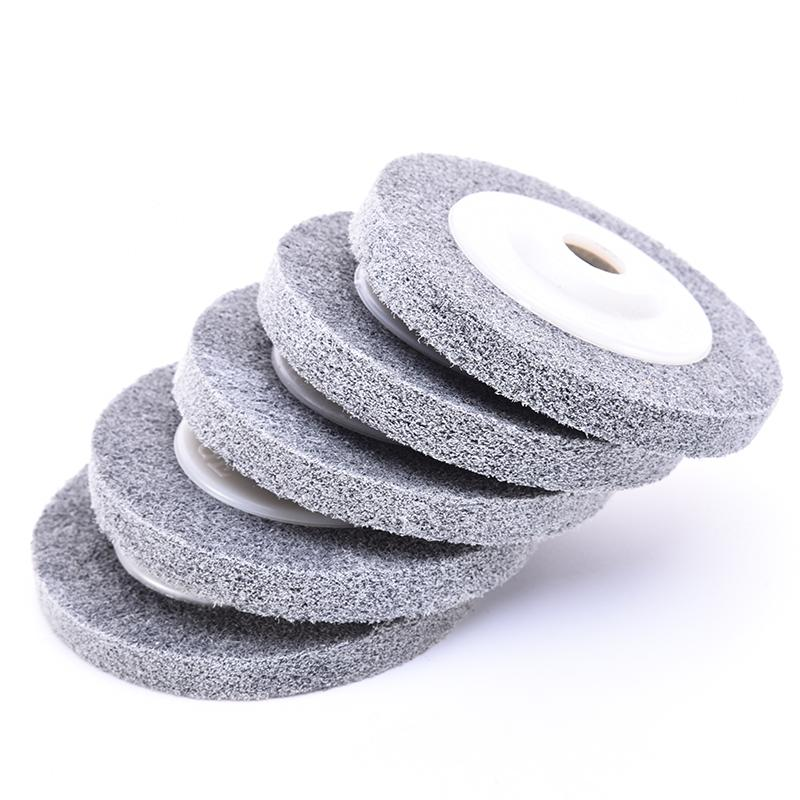100 X 12 X 16 Mm Fiber Polishing Wheel Buffing Pad Grinding Abrasive Disc For Metal Wood Polishing On Angle Grinder 1Pc