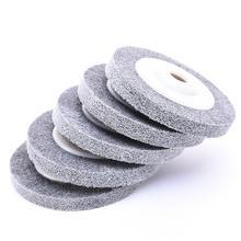 100x12x16mm roda de polimento de fibra almofada polimento moagem disco abrasivo para polimento de madeira de metal no moedor de ângulo 1pc