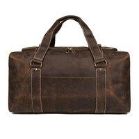 Waterproof Men Handbag Genuine Cow Leather Men Suit Duffle Bag Travel Bag For Travel Garment Bags For Clothes Hand Luggage Bag