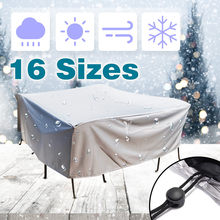 16Size Outdoor Cover Waterproof Furniture cover Sofa Chair Table Cover Garden Patio Beach Protector Rain Snow Dust Covers(China)