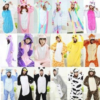 Кигуруми пижамы для женщин Единорог аниме панда Onesie Пикачу костюм  мальчик пижамы комбинезон для взрослых d693cf3bba166