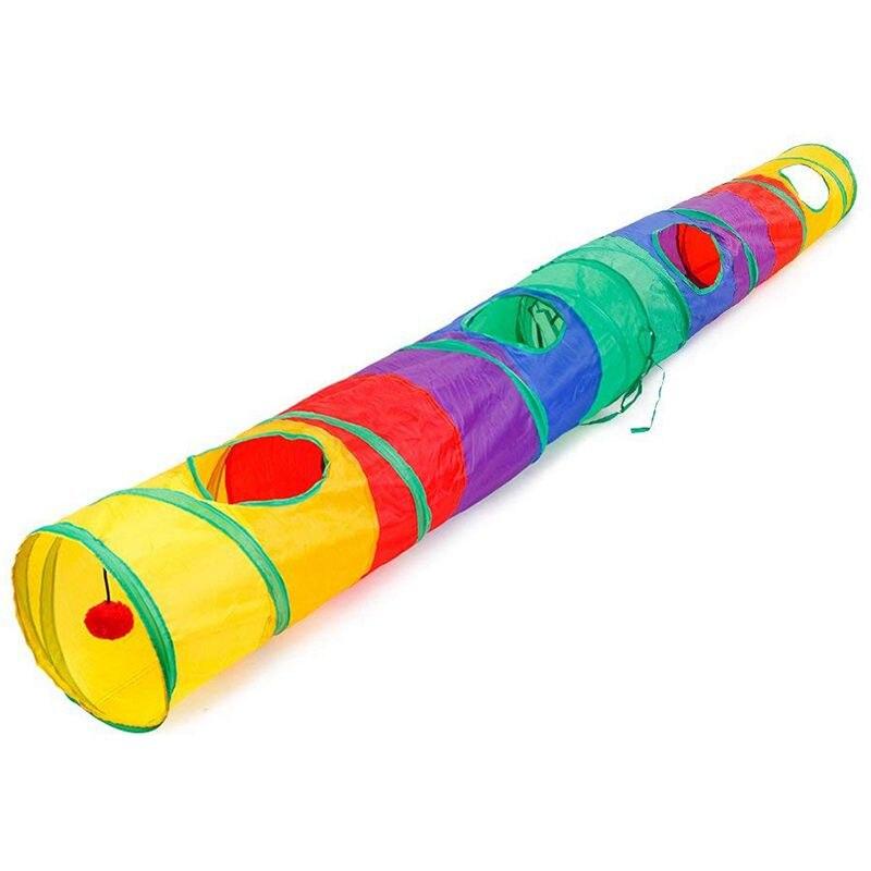 Tunnel de chat pratique Tube pour animaux de compagnie jouet de jeu pliable intérieur extérieur Kitty chiot jouets pour Puzzle exercice masquage formation et R