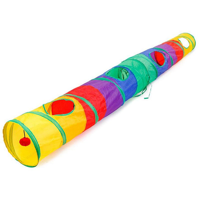 Practical Cat Tunnel Pet Tube Collapsible Play Toy Indoor Outdoor Kitty Puppy Toys for Puzzle Exercising Hiding Training and R image