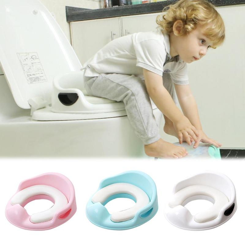 Kids Safety Toilet Chair Training Cushion Baby Toilet Potty Seat With Armrest Infant Portable Urinal Seat Ring Pad Potty Mat