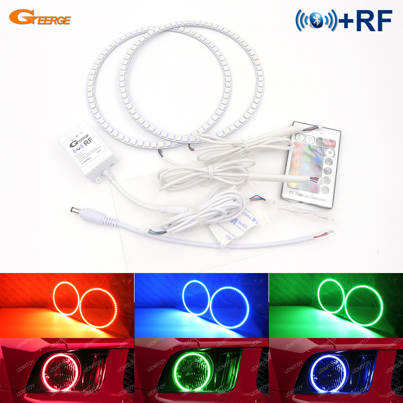 Pour Ford Mustang 2005 2006 2007 2008 2009 Excellent contrôleur Bluetooth RF multicolore Ultra lumineux RGB LED kit yeux d'ange