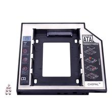 Second 2nd HDD Caddy 12.7mm 2.5″ SATA 3.0 SSD Case Hard Drive Enclosure Adapter + LED for Laptop CD-ROM DVD ROM Optibay