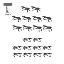 Tooyful Durable 10 Pieces Metal Lapel Tie Lavalier Clip-on Microphone Mic Clips Clamps Holder Black