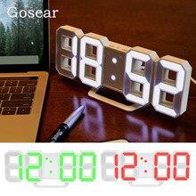 Модный большой 8-гранная витая светодиодный цифровой настенные часы настольные часы будильник часы со звуковым сигналом Функция 12/24 часов Дисплей