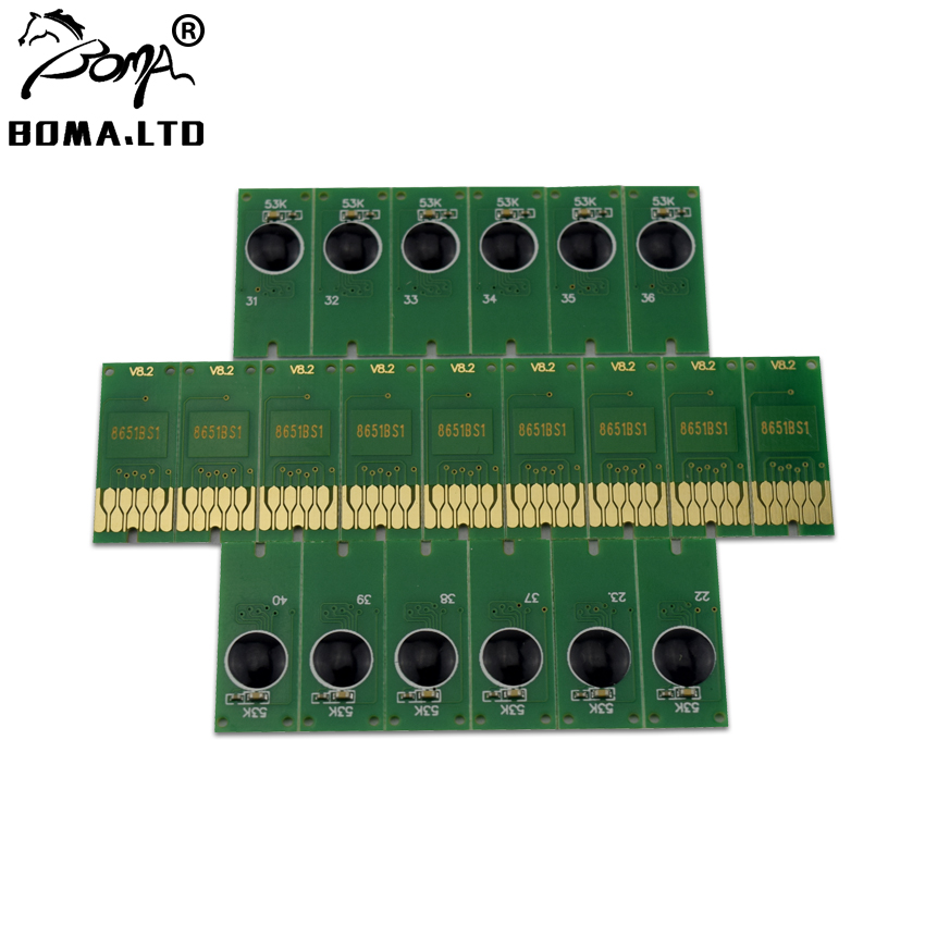 BOMA.LTD Ink Cartridge Chip For EPSON Workforce Pro T8651 T8651XXL Black WorkForce WF- M5690 M5190 M5191 M5193 M5693 Printer