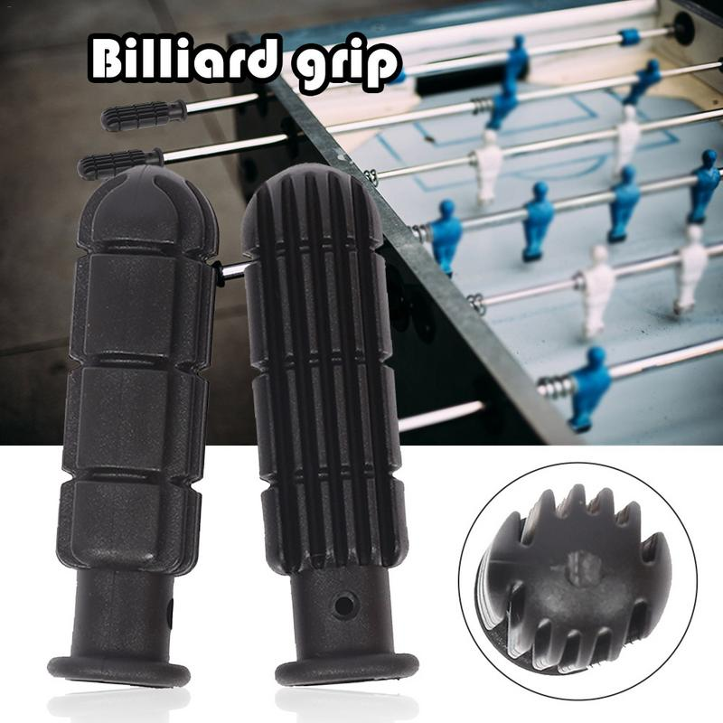 2pcs Pvc Table Football Replacement Handles Soccer Equipment Accessories Grips High Elasticity And Soft Grip Black Billiard Grip
