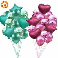 1 SET 12/18inch Metallic Confetti Balloons Happy Birthday Party Helium Balloon Decorations Wedding Festival Balon Party Supplies