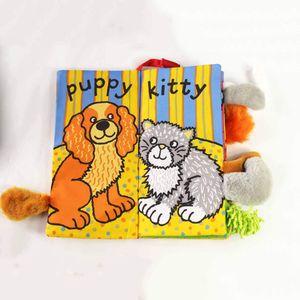 Image 5 - JOLLYBABY 2 Pack zwierzęta stereoskopowe ogony tkaniny książki dziecko wczesna nauka edukacja książki zabawki (Dino i puszyste ogony)
