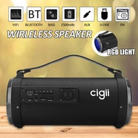 Portable bluetooth Speaker 4inch Subwoofer 360 Surround Music Sound for PC Speaker With RGB lights AUX TF Card Outdoor Speaker