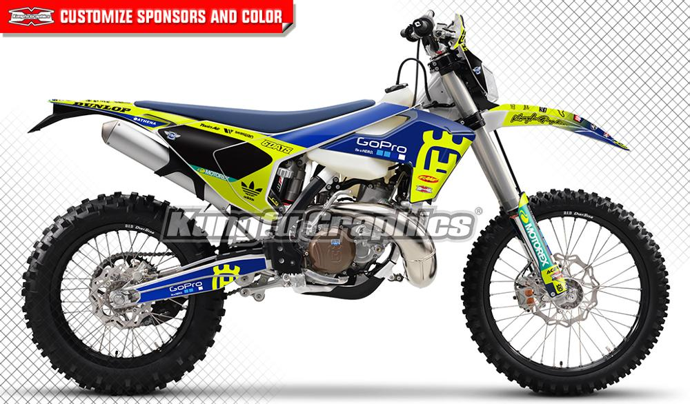 KUNGFU GRAPHICS Custom Stickers Dirt Bike Decals Kit For Husqvarna TE FE TC FC TX FX 125 250 300 350 450 501 2016 2017 2018 2019