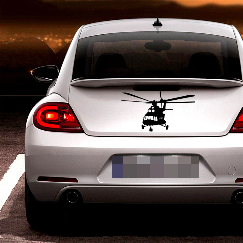 11 20cm Car Sticker Russian Helicopter Auto Car Stickers Rear Window Car Sticker Vinyl Decor Decals in Car Stickers from Automobiles Motorcycles