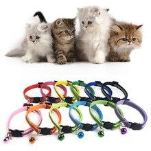 Регулируемые 1,0 нейлоновые ошейники для собак ошейники для домашних животных с колокольчиками Очаровательное ожерелье ошейник для маленьких собак ошейники для кошек товары для домашних животных горячая распродажа