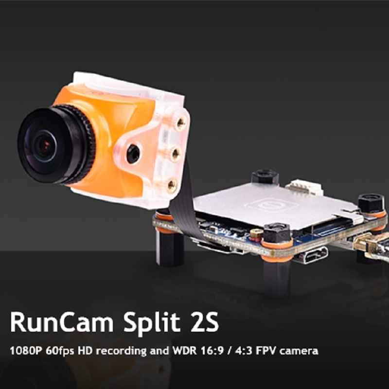 RunCam Split 2S Mini FPV Camera FOV 170-Degree Super WDR Large Lens 1080P 60fps DVR HD Recording OSD For RC Drone Car ToysRunCam Split 2S Mini FPV Camera FOV 170-Degree Super WDR Large Lens 1080P 60fps DVR HD Recording OSD For RC Drone Car Toys