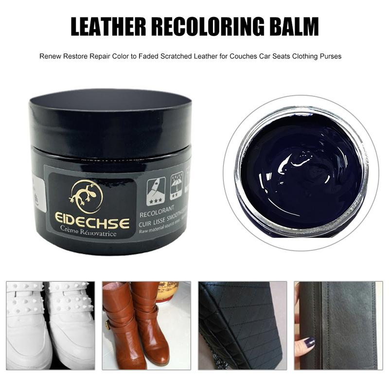New Leather Recoloring Balm Renew Restore Repair Color To Faded Scratched Leather For Couches Car Seats Clothing Purses in Paint Cleaner from Automobiles Motorcycles