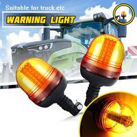 1Pcs 60LED 5730 Car LED Rotating Flashing Amber Beacon Flexible Warning Light 12V/24V For Tractor Truck SUV Boat