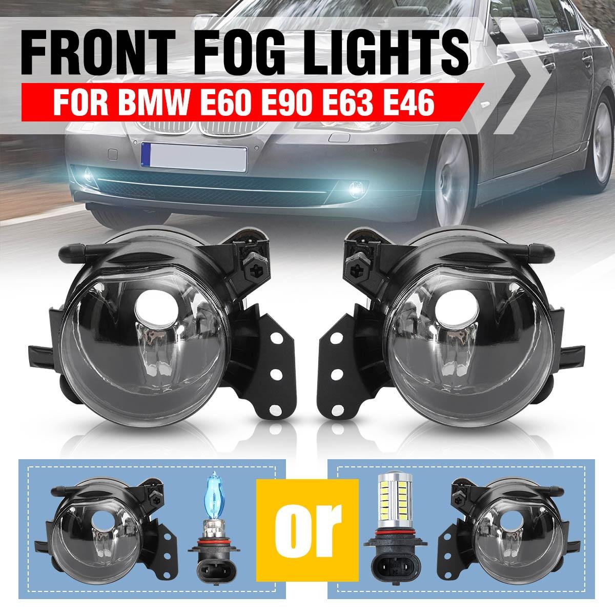 1 par de Montagem de Luz de Nevoeiro Luzes de Nevoeiro Da Frente Do Carro Lâmpadas Habitação Lente Clara Não Lâmpadas Para BMW E60 E90 E63 e46 323i 325i 525i