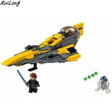 New Star Wars Plan Series Anakin's Jedi Starfighter Compatible Legoing StarWars 75214 Buidling Blocks Bricks Christmas Kids