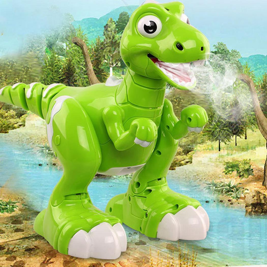 Télécommande Dinosaure Marche Pulvérisation Danse Interative Robot Jouet Vert