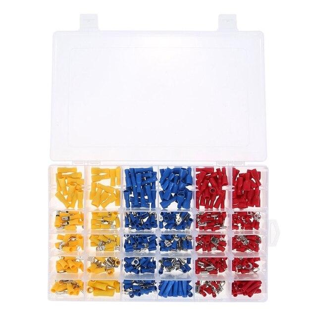 480 Pe Isolatie Kabelschoenen Met Doos, Elektrische Mannelijke Vrouwelijke Draad Kabel Connector Fittings Kit Terminals Klem Mes Sockets