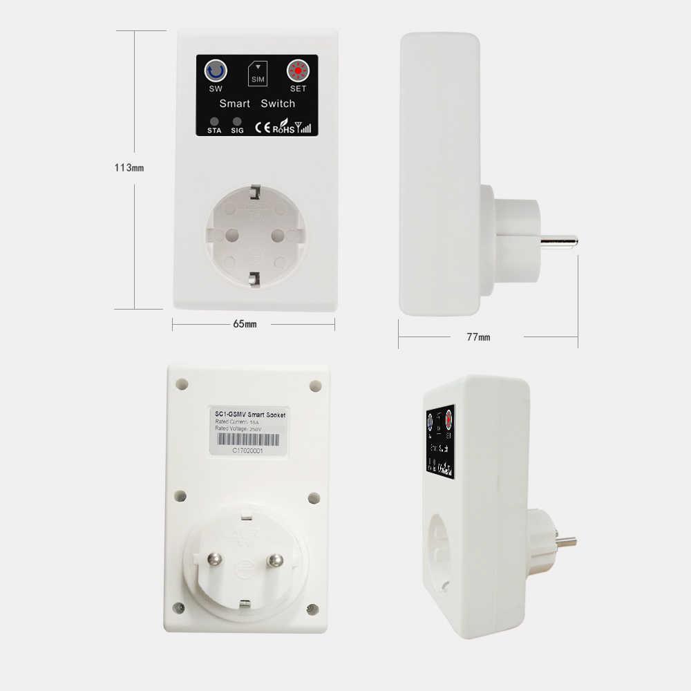 Умная розетка электрические розетки вызов SMS приложение дистанционное управление переключатель насос маршрутизатор электрический прибор розетка