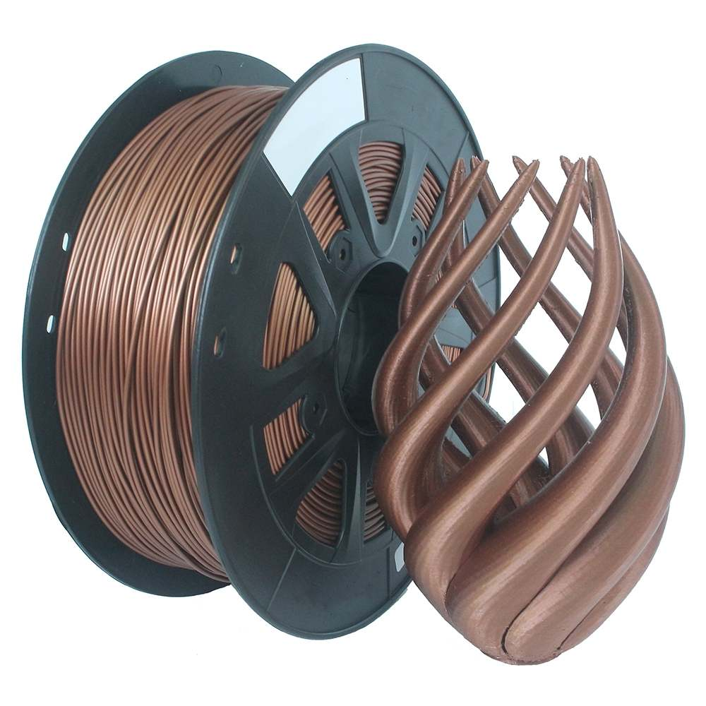 1.75mm 1KG Flexible Filament Printing Material Supplies Roll Metal Bronze Red Copper Filled Filament For 3D Printer Extruder Pen