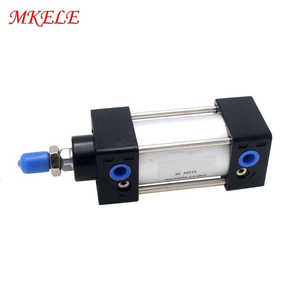 Double Acting 40mm Bore 25mm Stroke Air Cylinder  Pneumatic Cylinder Free Shipping SC40-25 MakereleDouble Acting 40mm Bore 25mm Stroke Air Cylinder  Pneumatic Cylinder Free Shipping SC40-25 Makerele