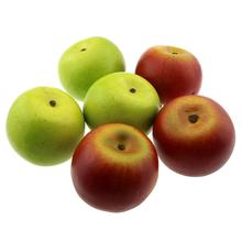 Gresorth 6pcs Artificial Green & Red Apple Decoration Fake Fruit Home Party Christmas Display Model