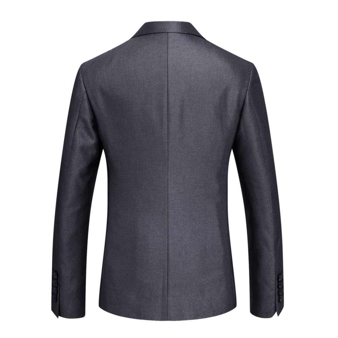 スーツ男性の高品質グレービジネスカジュアルスーツ 2 個セット新郎付添人のウェディングスーツズボンスーツ XF012