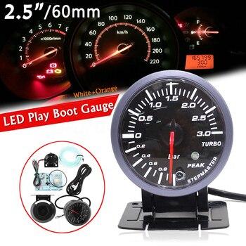 2.5in 60mm Auto Auto LED Turbo Boost Vakuum Presse Manometer Bar Meter