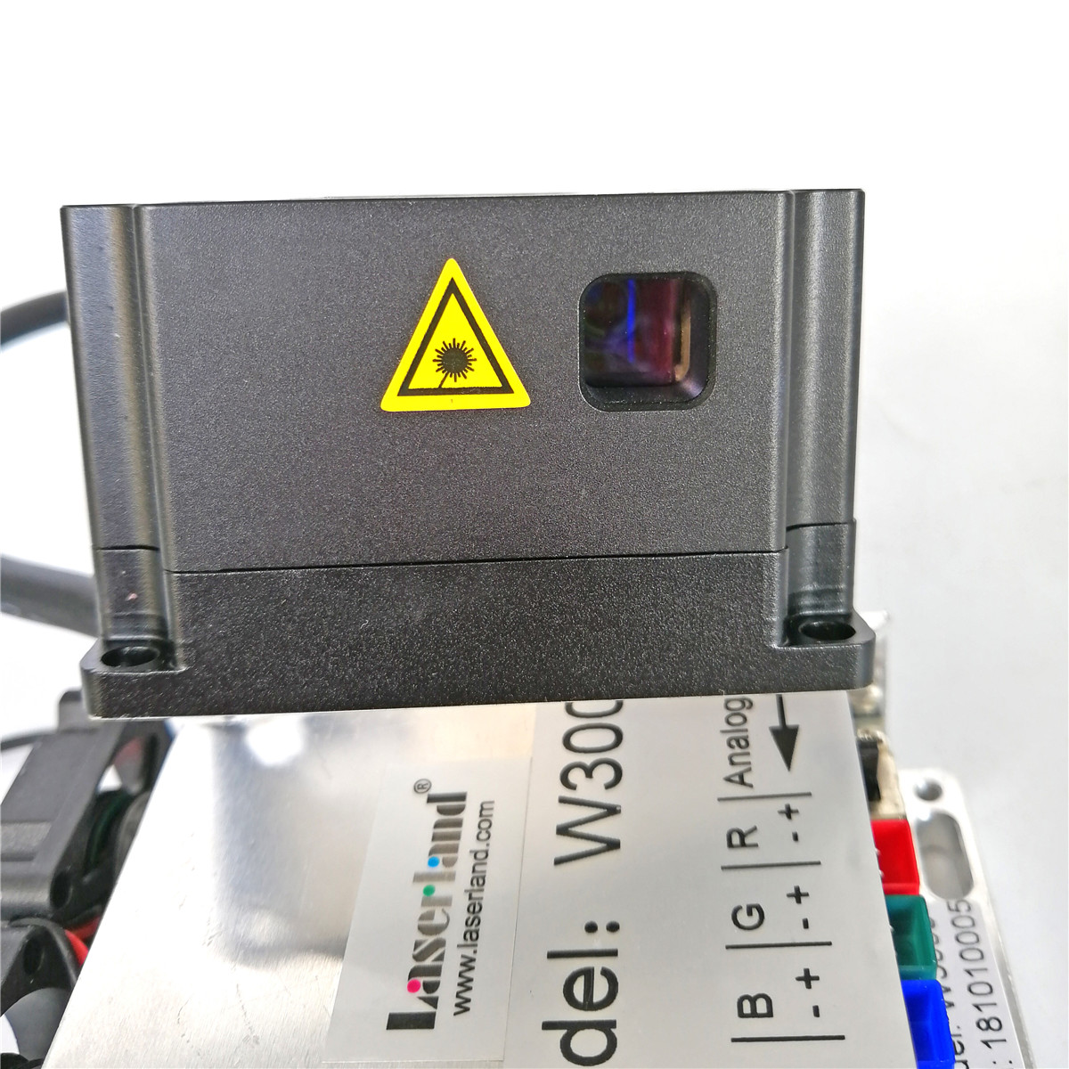RGB 3000mW 3w White Laser Module Analog Full-color Laser Module for Stage Lighting DJ KTV Show Christmas Halloween Fun