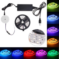 Super Bright 5M Waterproof IP65 300 LED RGB LED Strip Light 5050 SMD 24V DC With bluetooth Controller 60W Power US/EU Plug