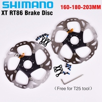 SHIMANO XT RT86 6/7 Inch 160/180/203mm Brake Disc Rotor ICE TECH system 6 Bolts Disc Rotors Mountain Bikes Parts