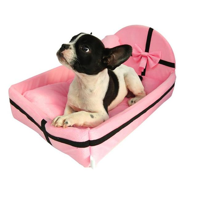 Pet Dog House Dog Bed Nest With Mat Cute Plush Cushion Winter Warm Small Medium Dogs Removable Mattress Cat Bed Dog Puppy Kennel 1